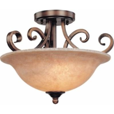 Dolan Lighting 2095-133 Medici - Two Light Semi - Flush Mount