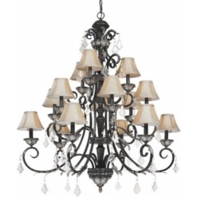 Dolan Lighting 2103-148 Florence - Fifteen Light Three Tier Chandelier