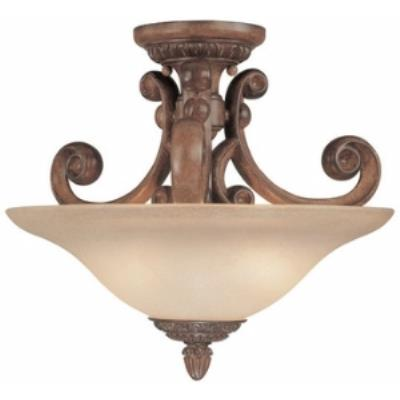 Dolan Lighting 2405-54 Carlyle - Two Light Semi - Flush Mount