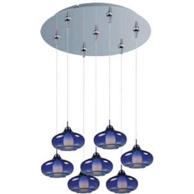 ET2 Lighting E93748-140PC Graduating 7-Light RapidJack Pendant and Canopy