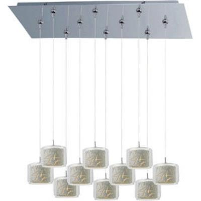 ET2 Lighting E93949-10PC Confetti 10-Light RapidJack Pendant and Canopy