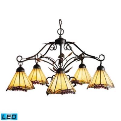Elk Lighting 035-IA-LED Grape Trellis - Five Light Chandelier