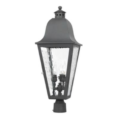 Elk Lighting 1103-C Brookridge - Three Light Outdoor Post