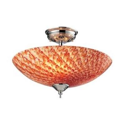 Elk Lighting 11315/3SC-G Night Glow - Three Light Semi-Flush Mount