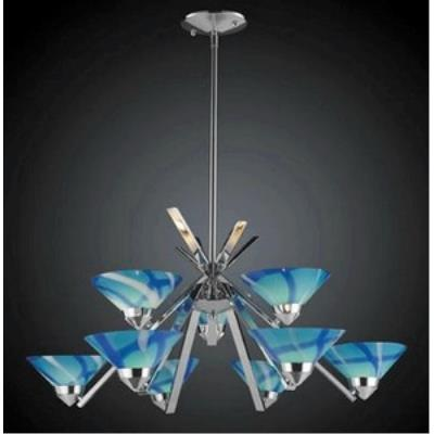 Elk Lighting 1476/6+3CAR Refraction - Nine Light Chandelier
