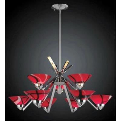 Elk Lighting 1476/6+3MAR Refraction - Nine Light Chandelier