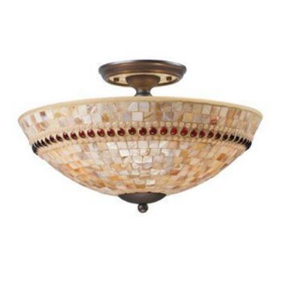 Elk Lighting 15013/3 Roxana - Three Light Semi - Flush