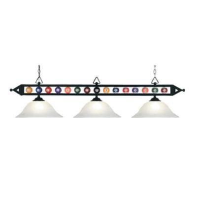Elk Lighting 190-1-BK-G1 Designer Classics/Island - Three Light Island