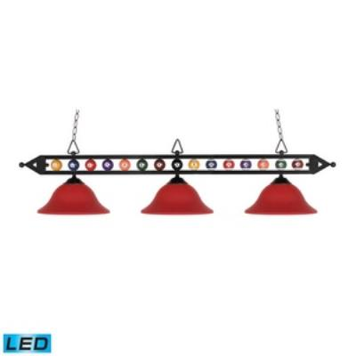 Elk Lighting 190-1-BK-G10BU-LED Designer Classics/Island - Three Light Island