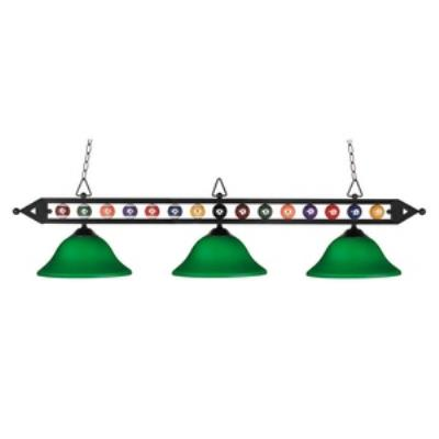 Elk Lighting 190-1-BK-G10GR Designer Classics/Island - Three Light Island