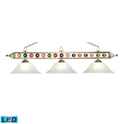 Elk Lighting 190-1-SN-G1-LED Designer Classics/Island - Three Light Island