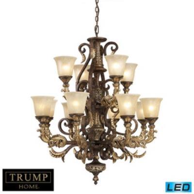 Elk Lighting 2165/8+4-LED Regency - Twelve Light Chandelier