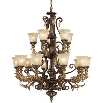 Elk Lighting 2166/10+5 Regency - Fifteen Light Chandelier
