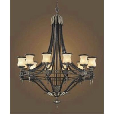 Elk Lighting 2434/12 Georgian Court - Twelve Light Chandelier