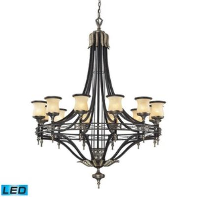 Elk Lighting 2434/12-LED Georgian Court - Twelve Light Chandelier