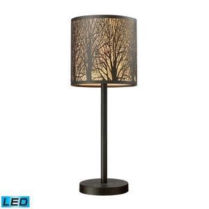 """Woodland Sunrise - 8"""" 9.5W 1 LED Portable Table Lamp"""