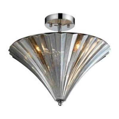 Elk Lighting 31253/3 Crystal Flushmounts Three Light Flush Mount