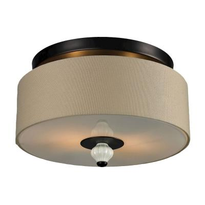 Elk Lighting 31371/2 Lilliana - Two Light Semi-Flush Mount