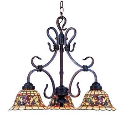 Elk Lighting 363-VA Tiffany Buckingham - Three Light Chandelier