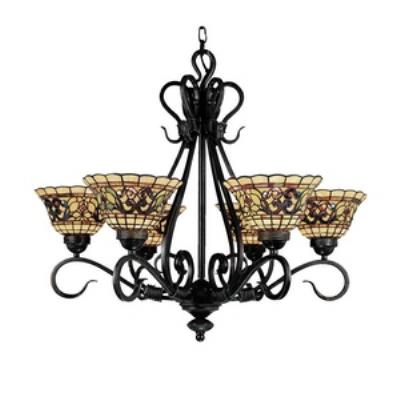 Elk Lighting 366-VA Tiffany Buckingham - Six Light Chandelier