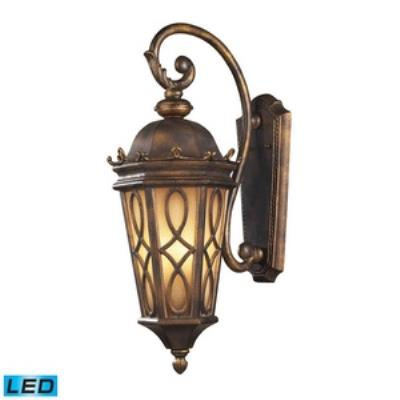 Elk Lighting 42002/3-LED Burlington Junction - Three Light Outdoor Wall Sconce