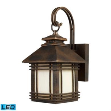 Light Outdoor Elk lighting 421051 led blackwell one light outdoor wall sconce workwithnaturefo