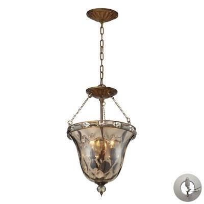 Elk Lighting 46021/3-LA Cheltham - Three Light Semi-Flush Mount