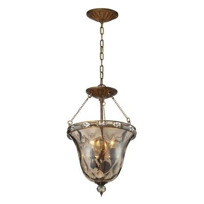 Elk Lighting 46021/3 Cheltham - Three Light Semi-Flush Mount