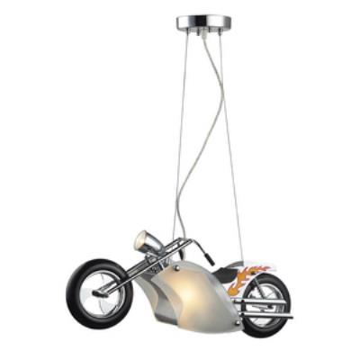 Elk Lighting 5093/3 Novelty - Three Light Motorcycle Pendant