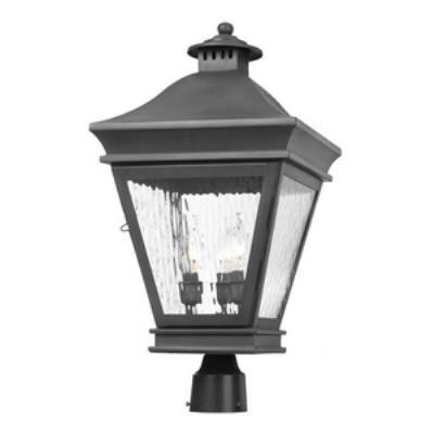 Elk Lighting 5723-C Landings - Three Light Outdoor Post