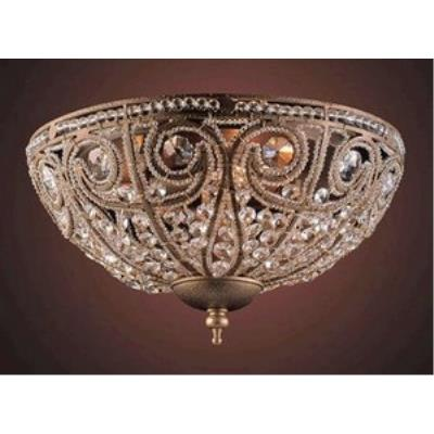 Elk Lighting 5962/3 Elizabethan - Three Light Flush Mount