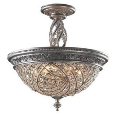 Elk Lighting 6233/6 Renaissance - Six Light Semi Flush Mount