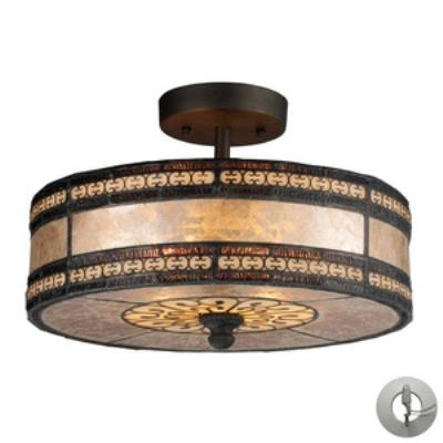 Elk Lighting 70065-2-LA Mica Filigree - Two Light Semi-Flush Mount