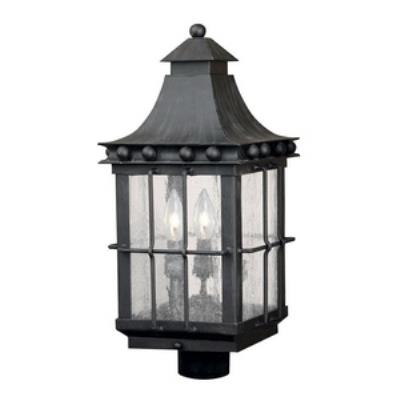 Elk Lighting 8453-E Taos - Three Light Outdoor Post