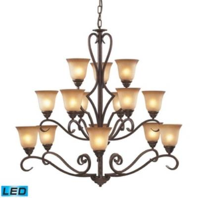 Elk Lighting 9330/6+6+3-LED Lawrenceville - Fifteen Light Chandelier