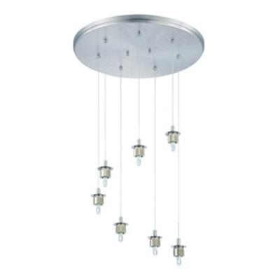 Forecast Lighting FA0064836 Sparkle 7-light pendant holder in Satin Nickel finish