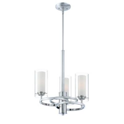 Forecast Lighting FK0001836 Hula 3-light chandelier in Satin Nickel finish