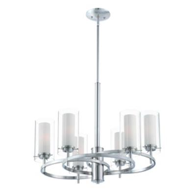 Forecast Lighting FK0002836 Hula 6-light chandelier in Satin Nickel finish