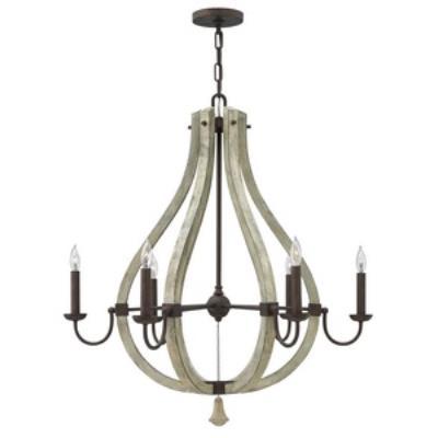 Fredrick Ramond Lighting FR40576IRR Middlefield - Six Light Chandelier