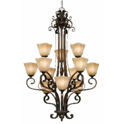 Golden Lighting 3890-363 GB 3 Tier Chandelier