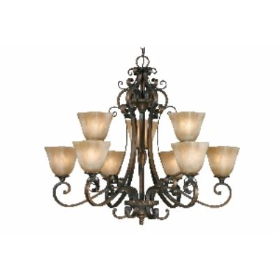 Golden Lighting 3890-9 GB 2 Tier Chandelier