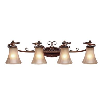 Golden Lighting 4002-BA4 RSB Loretto 4 Light Vanity