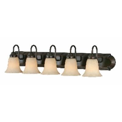 Golden Lighting 5335 RBZ 5 Light Vanity