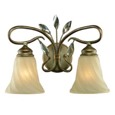 Golden Lighting 5400-BA2 RG Beau Jardin - Two Light Bath Vanity