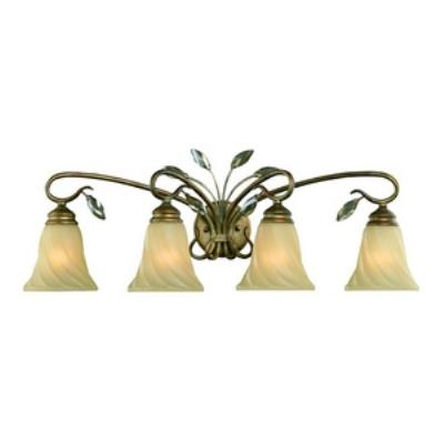 Golden Lighting 5400-BA4 RG Beau Jardin - Four Light Bath Vanity
