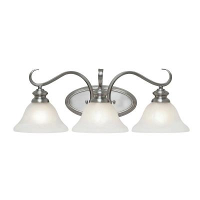 Golden Lighting 6005-BA3 PW 3 Light Vanity