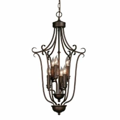 Golden Lighting 6426-6 RBZ Caged Foyer