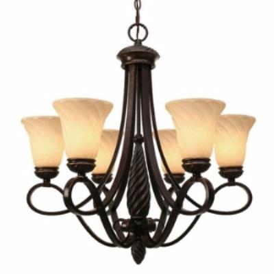 Golden Lighting 8106-6 Torbellino - Six Light Chandelier