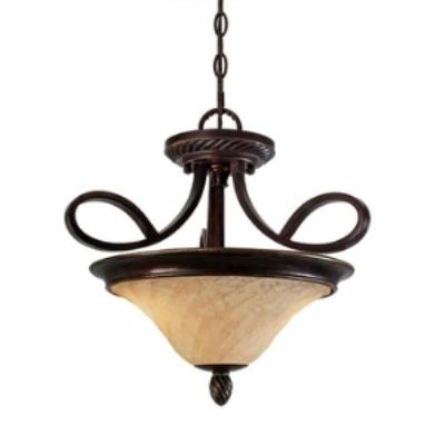Golden Lighting 8106-SF Torbellino - Two Light Convertible Semi Flush Mount