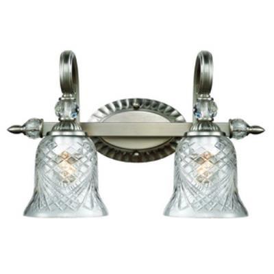 Golden Lighting 8118-BA2 PW Alston Place - Two Light Bath Vanity